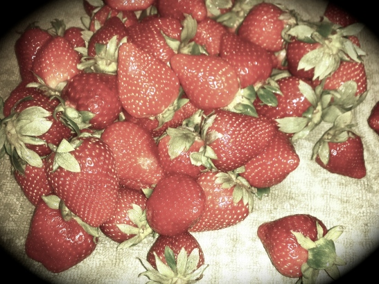 Strawberries for Crumble