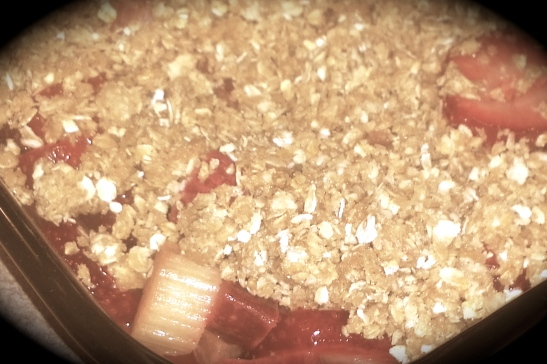 Spring Day's Apple and Rhubarb Crispy Crumble