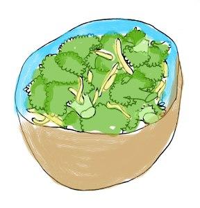 Lost in Sauteed Broccoli and Garlic Salad
