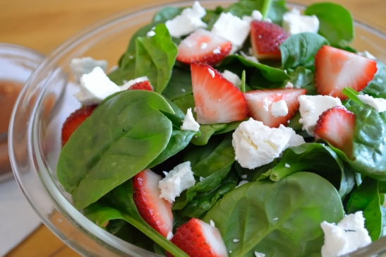 A Strawberry Good Summer Salad (With Caramelized Onion Vinaigrette)