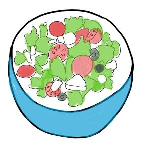 Easy Does Italian Salad from OhMyPotluck.com