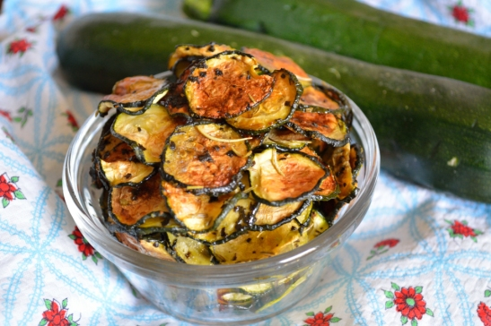 Zucchini Chips off the Old Block | OhMyPotluck.com